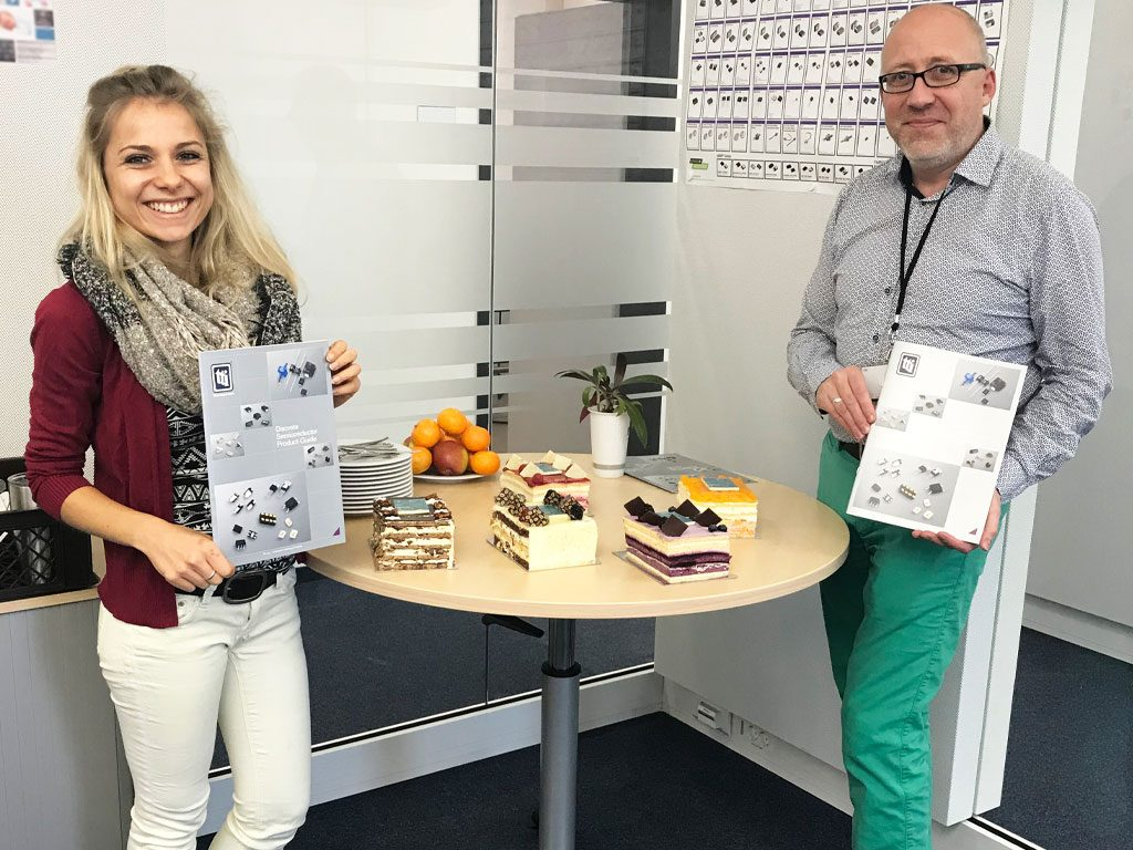 Discretes marketing brochure turned into cakes by TTI Europe