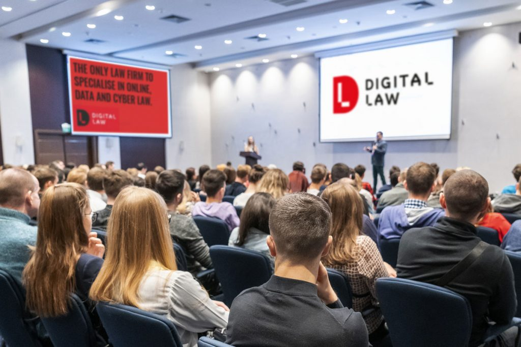 Digital Law brand looks great at a conference